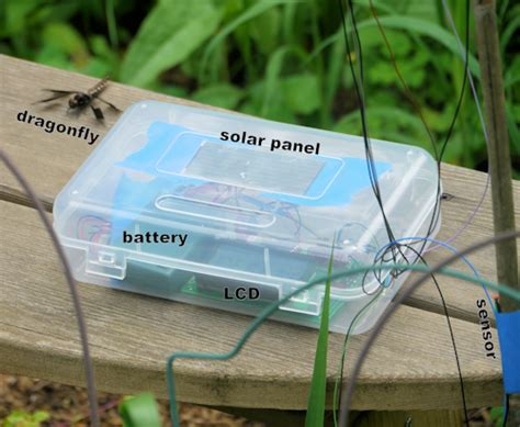 weather station logging solar and temperature data