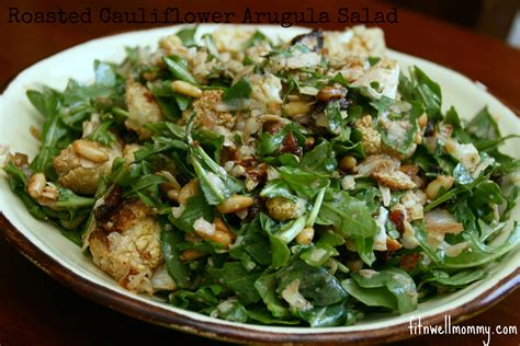 dinner salads roasted cauliflower arugula salad a hearty dinner salad
