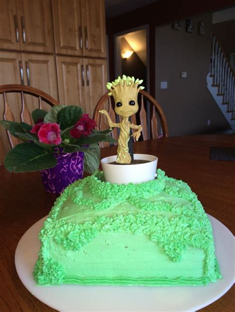 Galaxy Pan Cake 7 Lubang guardians of the galaxy groot birthday cake tara s