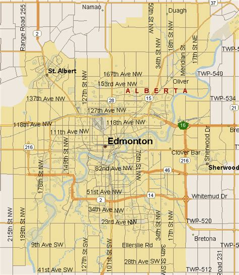 edmonton in canada map edmonton map region alberta listings canada