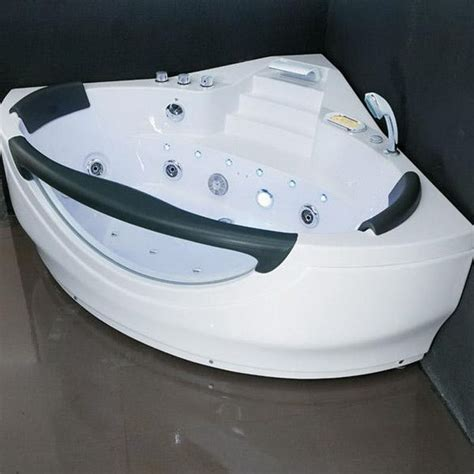 hydromassage bathtub wall corner fiber glass acrylic whirlpool bathtub