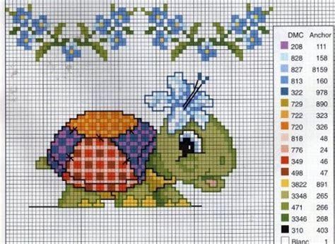 bordados rosas fasnta animals baby tortoise flowers free cross stitch patterns