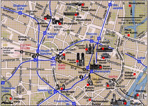munich metro map munich map tourist attractions travelquaz