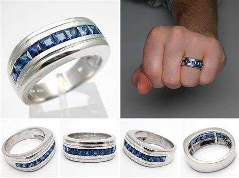 sapphire mens ring rings