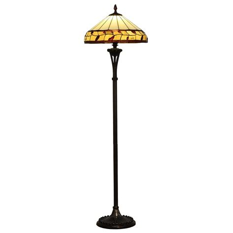 floor l with reading light warehouse of tiffany dragonfly 58 in antique bronze floor