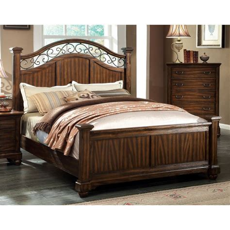 Cal King Poster Bedroom Sets by Furniture Of America Makayla California King Poster Bed In
