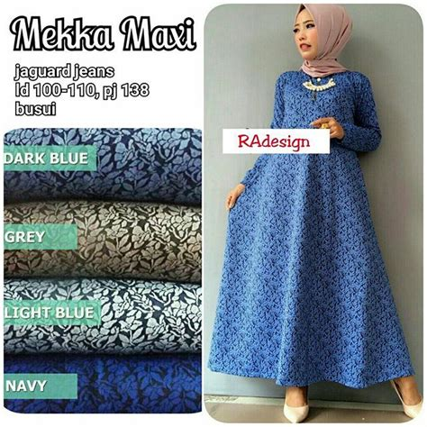 Ready Stok Stelan Vianita Navy ready grey light blue navy 125 quality tanpa jilbab supplier baju murah