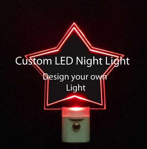 make your own night light 3 8 quot personalized custom night light design your own