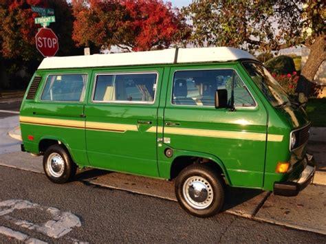 original paint 1983 vw vanagon westfalia bring a trailer
