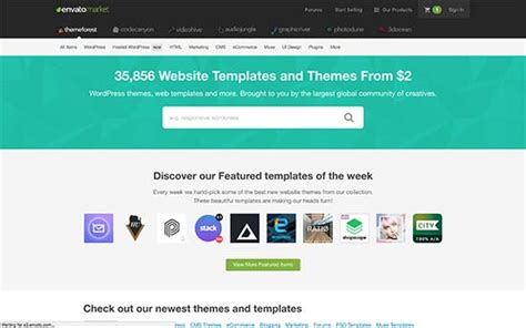 themeforest forum 6 top wordpress theme marketplaces to find the best themes