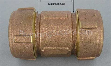 Dresser Coupling Galvanized Pipe by Bronze Compression Dresser Type Fittings For Iron Or