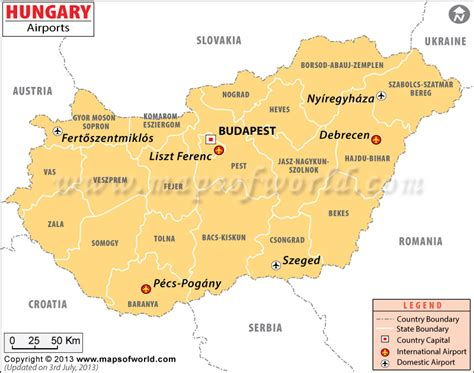 Airports in Hungary, Hungary Airports Map