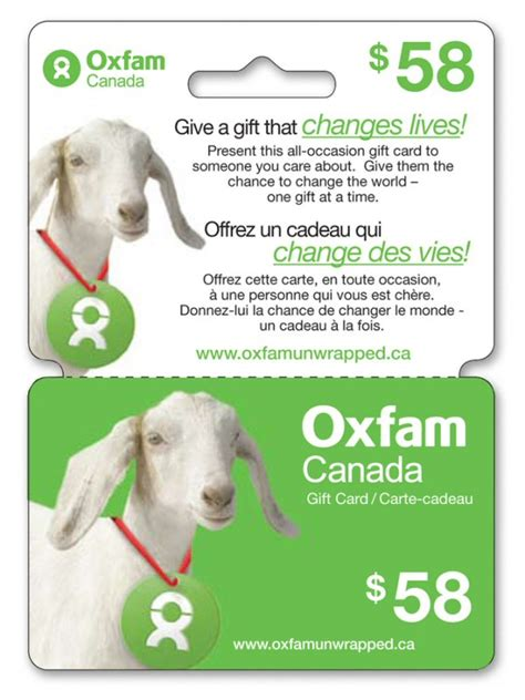 Oxfam Gift Cards - oxfam canada gift cards now available exclusively at