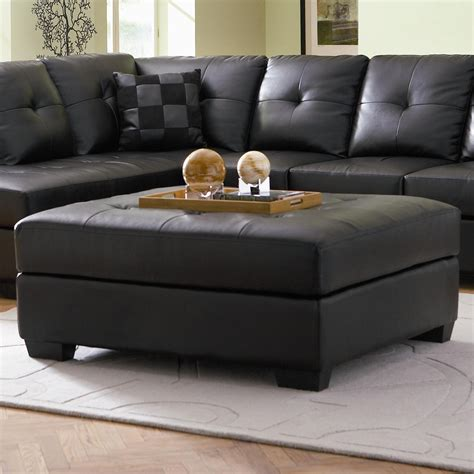 feet for ottoman darie leather cocktail ottoman with wood feet ottomans
