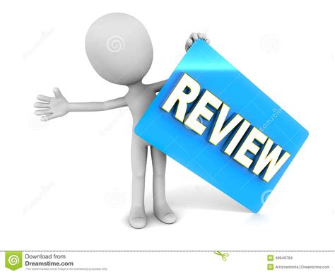 a review of the review meeting stock illustration image 49949784