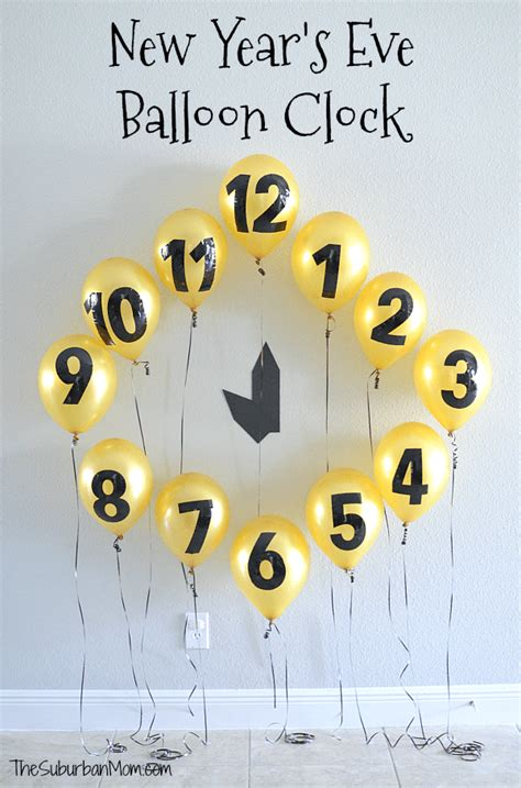 years eve balloon clock countdown decoration