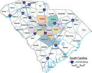 map of columbia south carolina and surrounding area