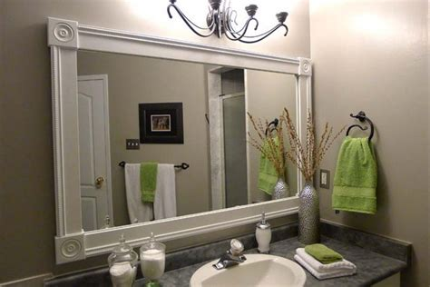Diy Bathroom Mirror Frame Bathroom Mirror Frames Diy Bathroom Mirror Frame Bathroom Mirror Frame Ideas Bathroom Ideas
