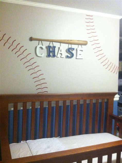 baseball lettersperfect    boy babes room