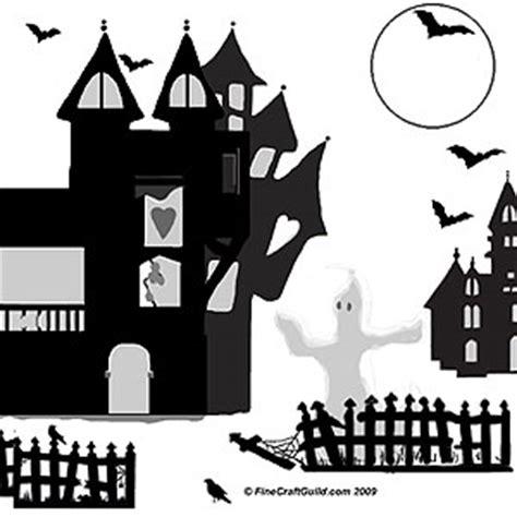 printable haunted house pumpkin stencils halloween ghost crafts