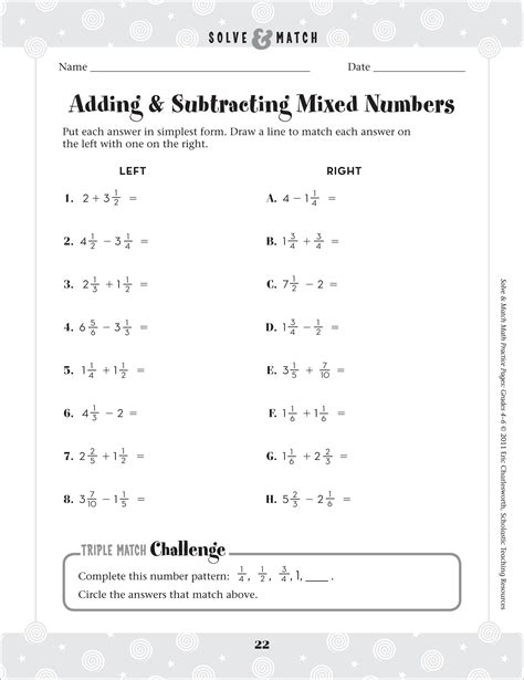 Adding And Subtracting Fractions Worksheet by Adding And Subtracting Mixed Number Worksheets