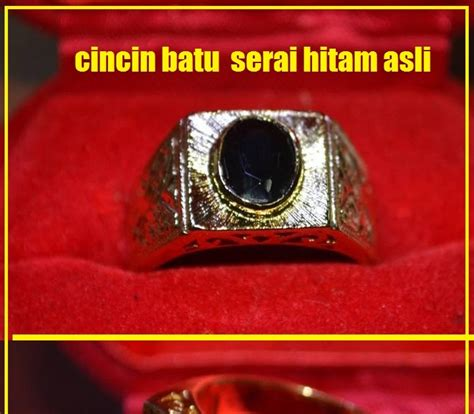 Cincin Batu Serai Hitam mistik ajaib cincin batu serai hitam asli