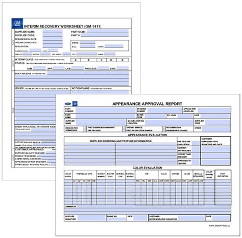 statsxpress ppap forms and software