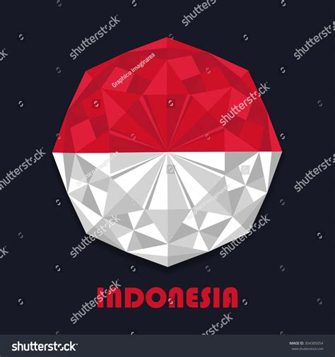 design indonesia independence day indonesia independence day abstract flag design stock