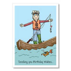 birthday card for fisherman birthday card fisherman in
