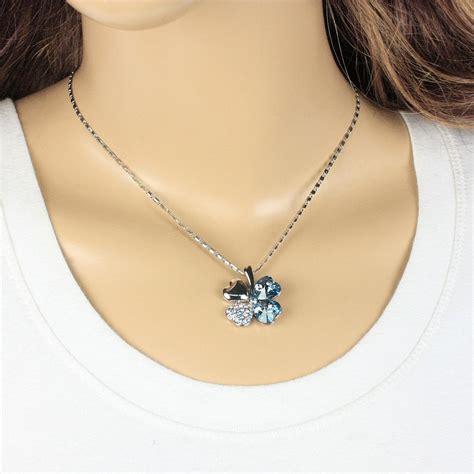 classic lucky clover necklace pendants necklace 925 sterling silver kalung wanita