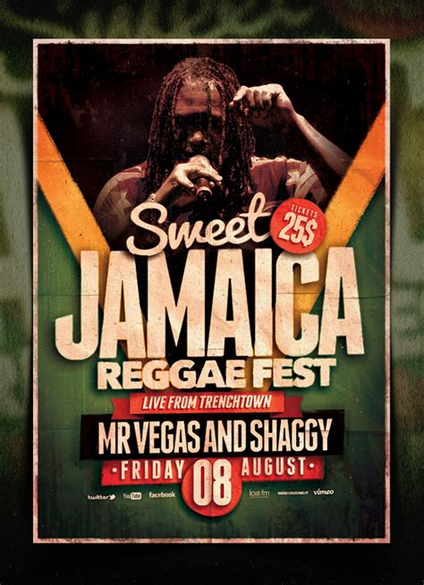 Reggae Poster Template Vol 6 By Indieground On Deviantart Jamaican Flyer Templates