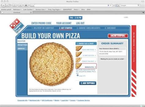 domino pizza order online indonesia domino s online ordering shows you your pizza as you build
