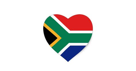 Wall Stickers South Africa south africa flag heart sticker zazzle com