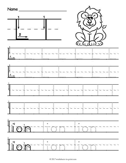 Letter L Worksheets by Tracing Letter L Worksheet