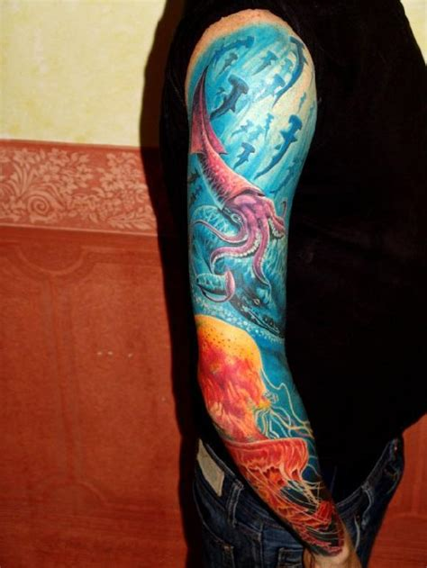 underwater sleeve tattoo underwater sleeve by boris tattoonow
