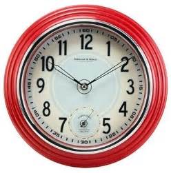 Flowers Allentown - retro kitchen wall clock red traditional clocks by