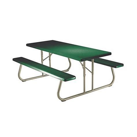 lifetime 22123 6 person folding picnic hunter green