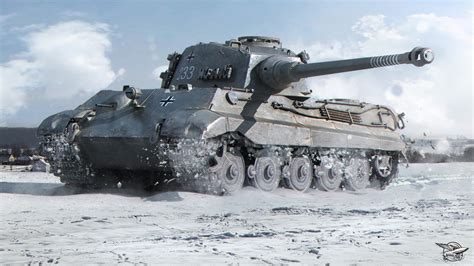 wot ii picture wot tanks tiger ii 3d graphics snow 2560x1440