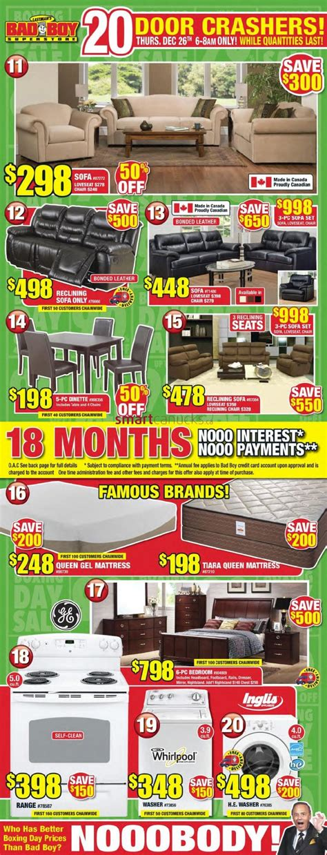 bad boy superstore boxing day flyer sales and deals canada