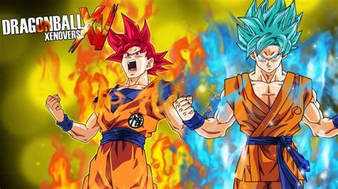 imagenes de goku rojo goku ssj dios rojo o dios azul 191 youtube