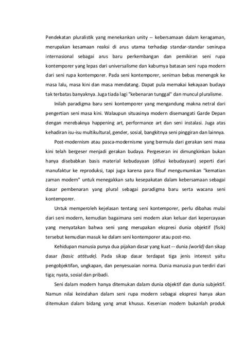 Paradigma Pendidikan Universal Di Era Modern Dan Post Modern seni rupa moden kontemporer indonesia