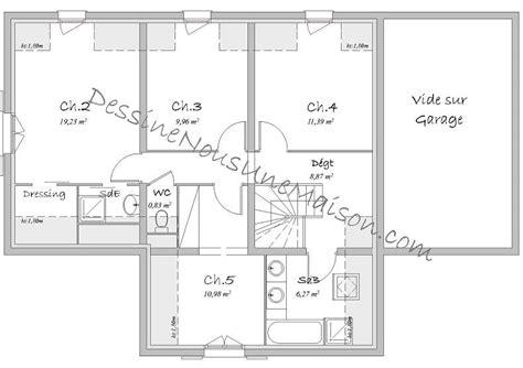 plan de maison 5 chambres plan de maison avec 5 chambres