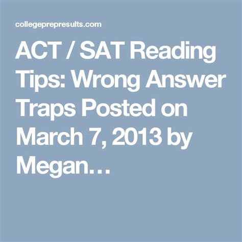 act reading section tips 16 best images about act on pinterest act test prep