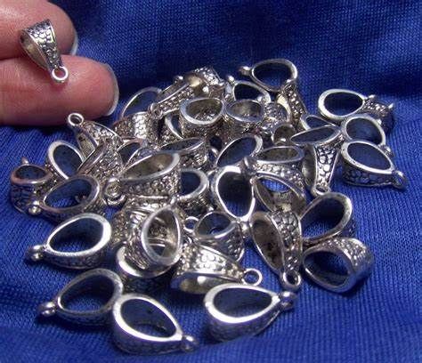 supplies for jewelry jewelry supplies bulk lot of 50 pendant bails