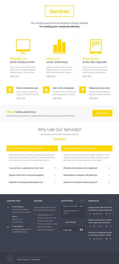 responsive portfolio templates node responsive portfolio template by quanticalabs