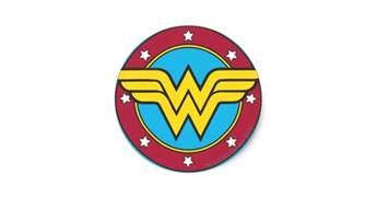 Abc Wall Stickers wonder woman circle amp stars logo round sticker zazzle