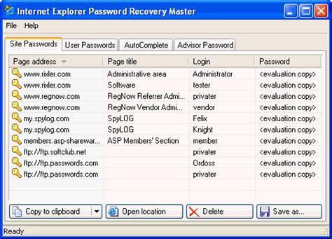 reset vba password 4 14 6 13 serial number internet explorer password recovery master rixler