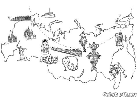 coloring page map of russia coloring page map of russia