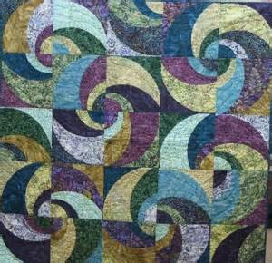 187 curved pattern piecing quilt using