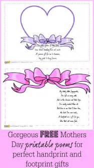 printable mothers day poems and footprint gifts
